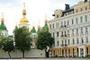 St. Sophia;'s Cathedral complex, viewed from he square, Kyiv, Ukraine.