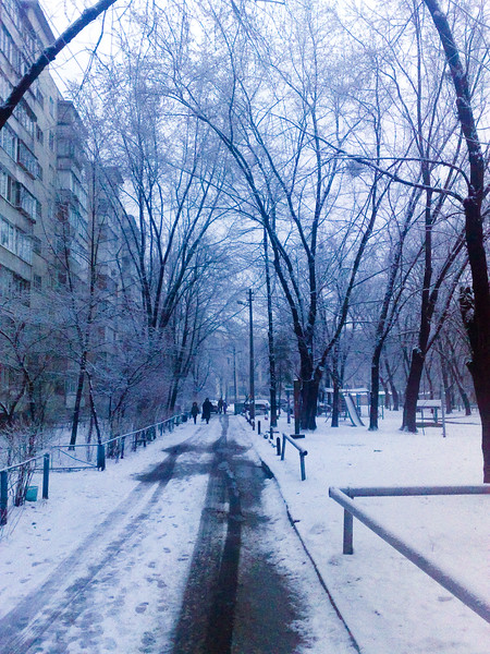 Winter morning in Kiev