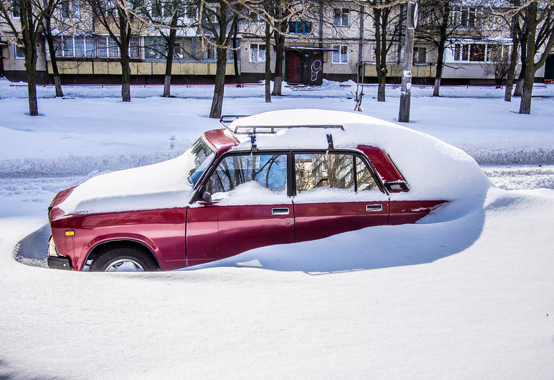 A car in snow