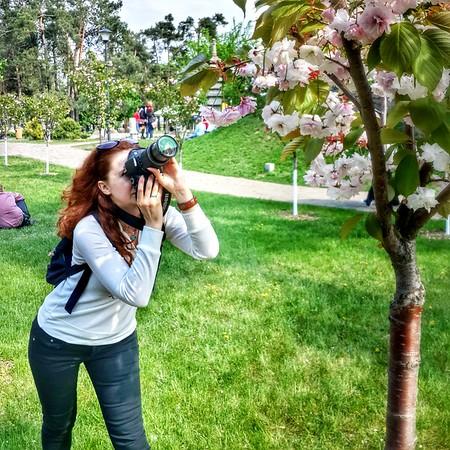 Photographer in Kyoto Park (Kyiv)