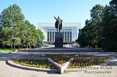 Lenin Statue. Bishkek, Kyrgyzstan.  July 2016.