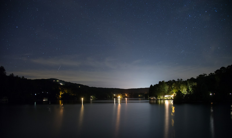 Lake Rabun at night
