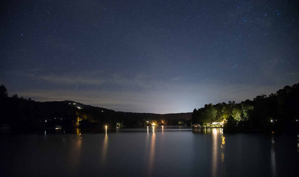 Lake Rabun at night