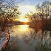 Sunset over the La Crosse River