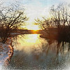 La Crosse River at Sunset