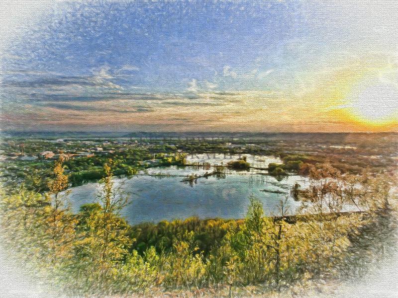 La Crosse Marsh at Sunset