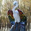 Crane sculpture at Riverside Park.