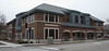 """April 4, 2009 La Grange Library<br /> Continuing my series on our town.<br /> We got a new library two or three years ago. When I took this shot I was standing in front of the empty storefront shown in at the left of the previous post.<br />  <a href=""""http://arthill.smugmug.com/gallery/5529181_hoJ5g/1/#504436967_MyUTp-A-LB"""">http://arthill.smugmug.com/gallery/5529181_hoJ5g/1/#504436967_MyUTp-A-LB</a><br /> You can just see a little bit of the library in that picture."""