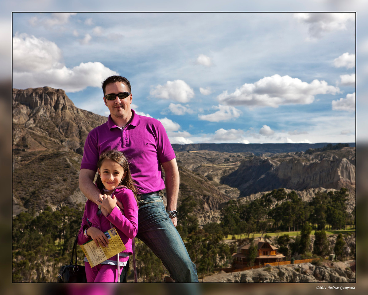 David Presnell and his daughter Arianna with the Valle de la Luna in the background.