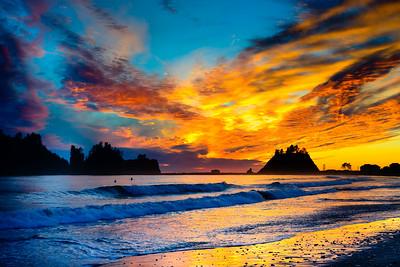 A Sunset from First Beach