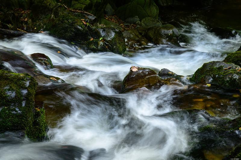 Flowing down