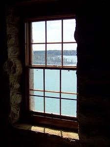 window in Tucker Tower  Lake Murray, Oklahoma  3-28-2010