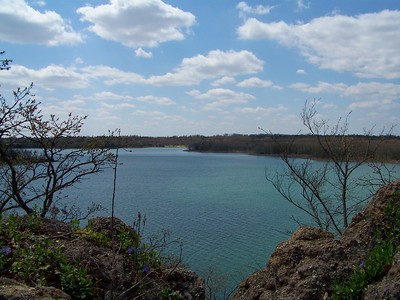 View from the path leading to the tower  Lake Murray, Oklahoma  3-28-2010