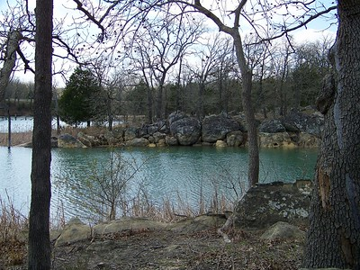 Cove near cabins Lake Murray, Oklahoma  3-28-2010