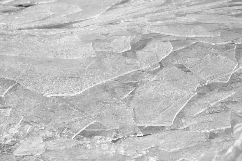 Black and White Ice Sheets