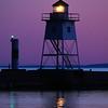 Grand Marais Lighthouses at Sunset