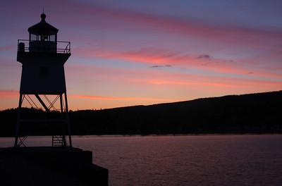 Grand Marais Lighthouse at Sunset