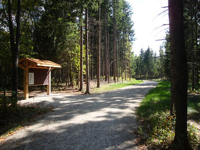 Trail entrance at Long Lake Recreation Area.