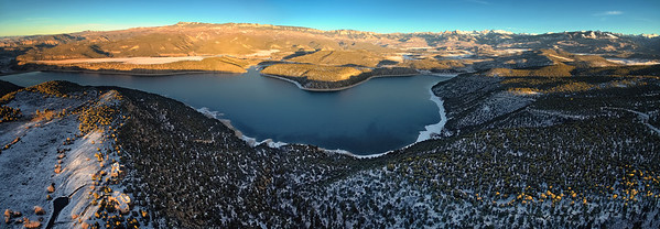Winter Sunset over Ridgway Reservoir