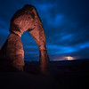 Delicate Arch with western storm, Arches National Park, Utah
