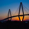 Arthur Ravenel Jr. Bridge, Sunset, Charleston, SC