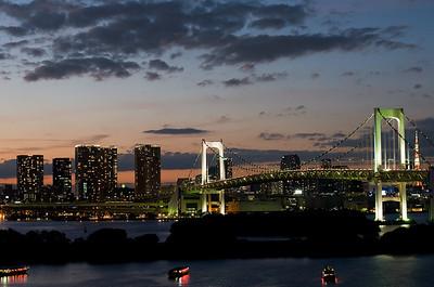 Tokyo skyline in Japan.