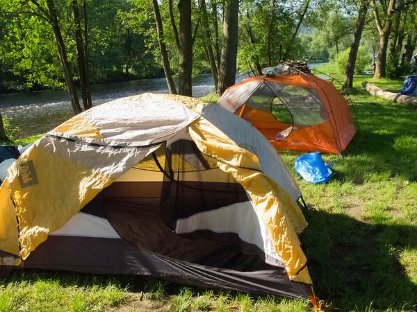 Riverside Campground The Vltava River, Czech Republic June 2011