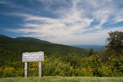 Ridge Junction Overlook Blue Ridge Parkway, NC, USA August 2011