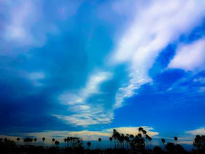 Cloudy Skies in Long Beach