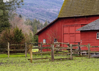 5954 - Deming Red Barn 2 - 5x7
