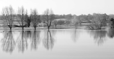 Flooded fields between Colchester and Bures