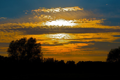 Golden sunset over Sudbury Meadows