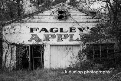 "10.17.14 = The Challenge  I have been challenged by Carole King Murray to post a black and white image each day for the next five days. Each day that I post, I will be passing the challenge along to another photographer.  My FIRST post in this series is a little abandoned fruit stand that I came across the other day.  With all the Autumn color inspiring me, I thought this one converted to black & white well.    I now nominate Karina Angelique Boese to step up to the challenge.  I know she will come up with some sterling images!  ""The thing about dreams is that, if you have to abandoned them, there's always another one right behind it  to pursue.""  k dunlap"