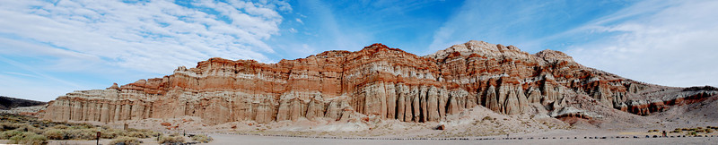 """Red Rock Canyon, California. In the movie Holes, this is where a scene was filmed where Stanley climbs up """"God's thumb""""."""
