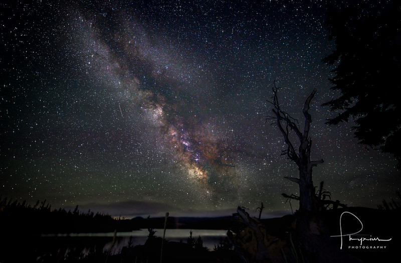 The Milky Way over Ollalie Lake, OR.