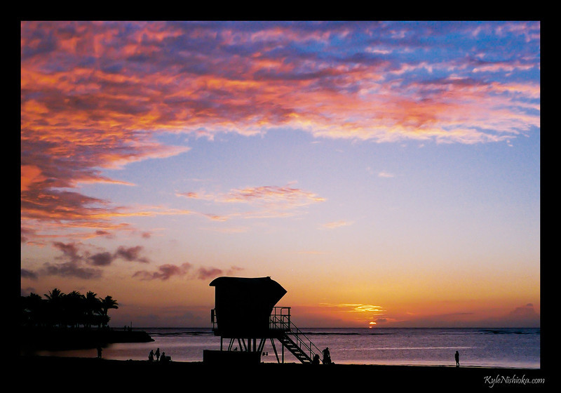 Ala Moana Beach - sometime ago I forget when exactly because I'm shooting film