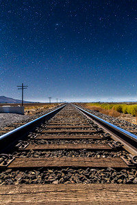 Stars over the tracks