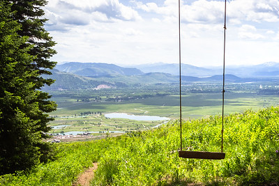 Swing With a View, Teton Mountain Valley, Jackson Hole, Wyoming
