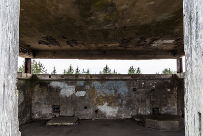 Observation deck of Battery Russell, Fort Stevens State Park