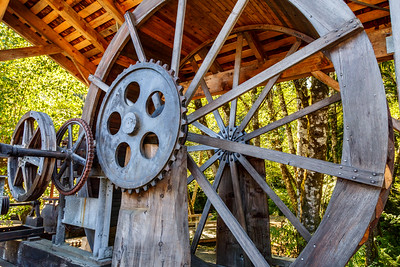 Water Wheel at Camp 18, Oregon