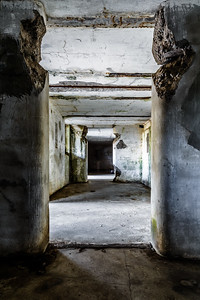 Inside the abandoned hallways of Battery Russell, Fort Stevens State Park