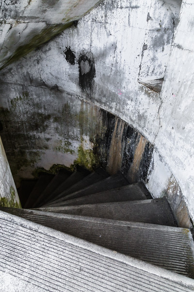 Stairs leading to the muntions storage at Battery Russell