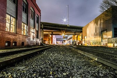 The tracks of SE Portland Industrial Area