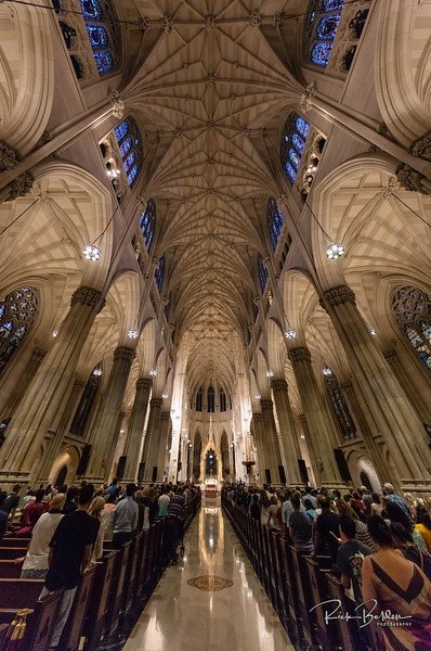 Just returned from a Trip back home to New York.    Interior shot of the beautiful St. Patricks Cathedral. @stpatrickscathedral   Photos by:  @RickBeldenPhotography   .................