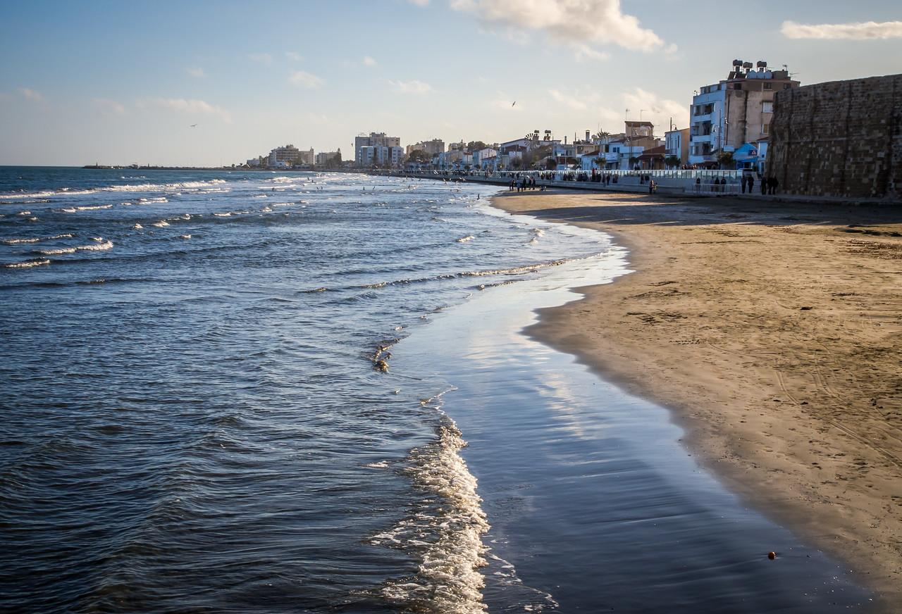 Sea in Larnaca in January