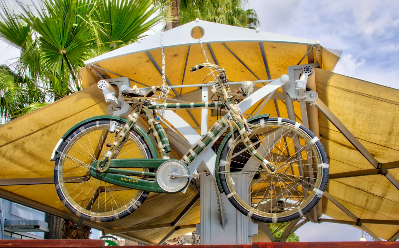 Bicycle in cafe