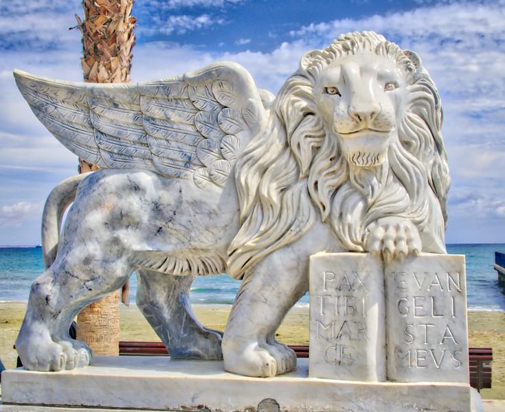 A lion monument