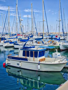 A boat in marina