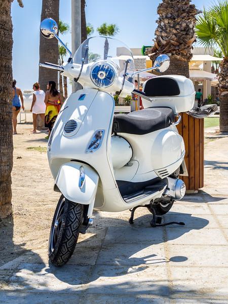 Vespa scooter at McKenzie beach