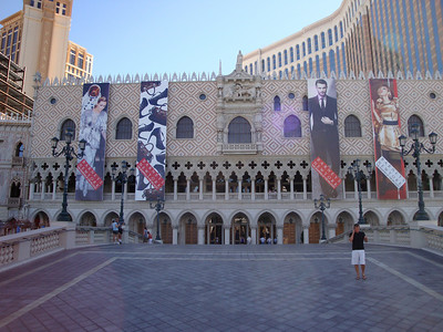 Outside the Venetian.
